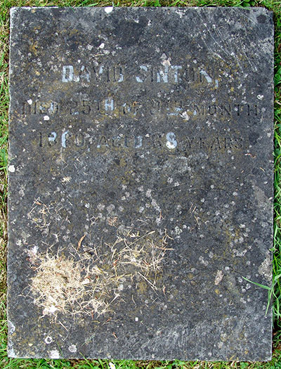 Headstone of David Sinton 1792 - 1860