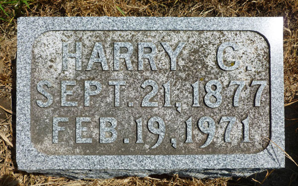 Headstone of Harry Cortez Willett 1877-1971