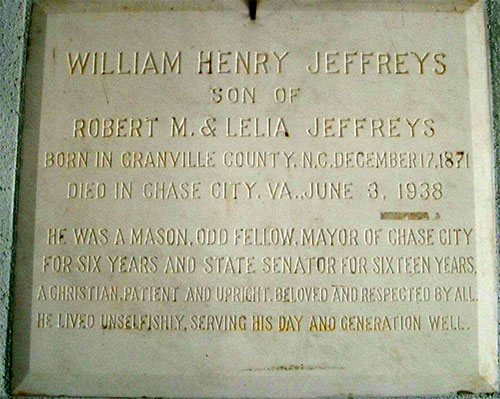 Headstone of William Henry Jeffreys 1871 - 1938