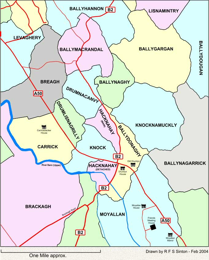 Townlands to the south-east of Portadown, Co. Armagh