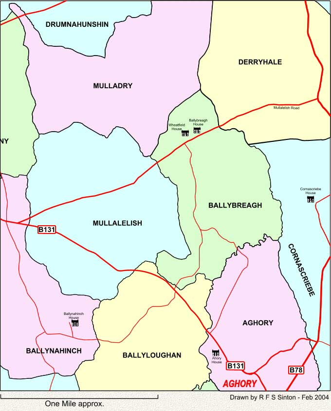Townlands to the west of Laurelvale, Co. Armagh