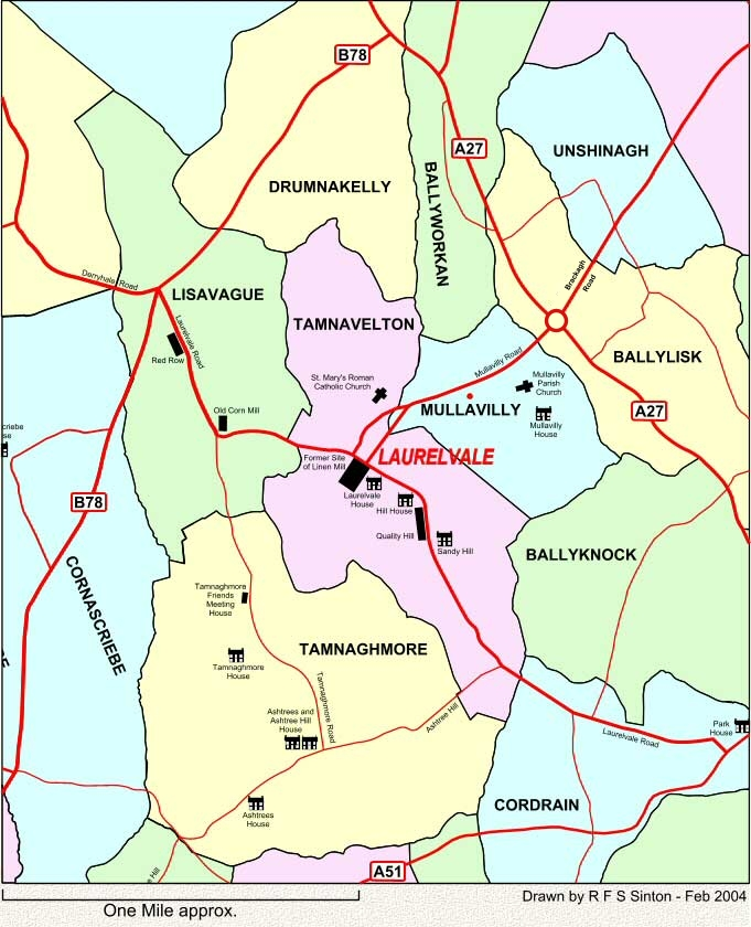 Townlands around Laurelvale, Co. Armagh